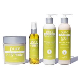 Bundle - Lemon Creme Fragrance with Organic Argan Oil for Softening Hair (4 Items) - CurlMix