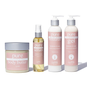 Bundle - Fragrance Free with Organic Sweet Almond Oil for Sensitive Skin (4 Items) - CurlMix