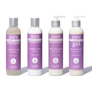Lavender Wash + Go System with Organic Jojoba Oil for Moisturizing Hair (Step 1 - 4) - CurlMix