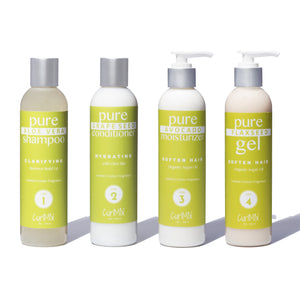 Lemon Creme Wash + Go System with Organic Argan Oil for Softening Hair (Step 1 - 4) - CurlMix