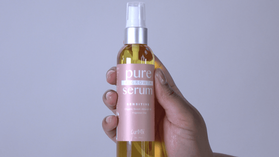 Pure Regrowth Serum with Organic Sweet Almond Oil for Sensitive Skin (Fragrance Free) - CurlMix