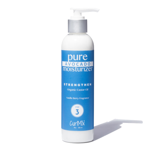 64e19920aed Pure Avocado Moisturizer with Organic Castor Oil for Strengthening Hair -  CurlMix