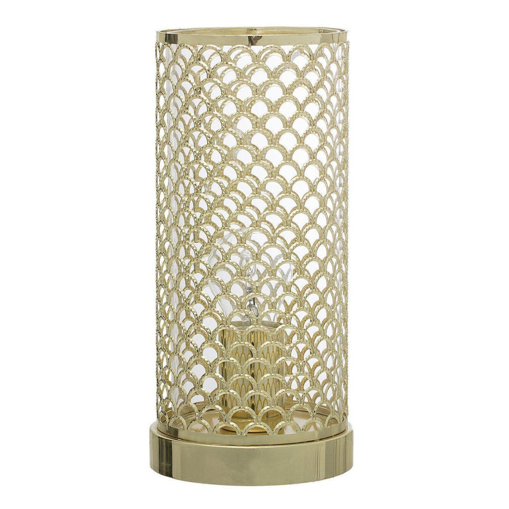 Gold Mesh Table Lamp-Bloomingville-Beaumonde