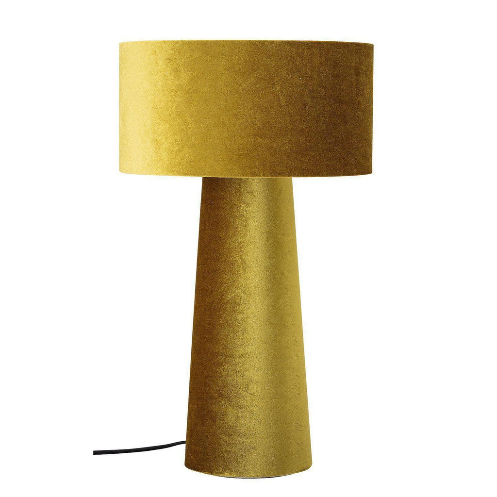 Hannah Yellow Velvet Table Lamp-Bloomingville-Beaumonde