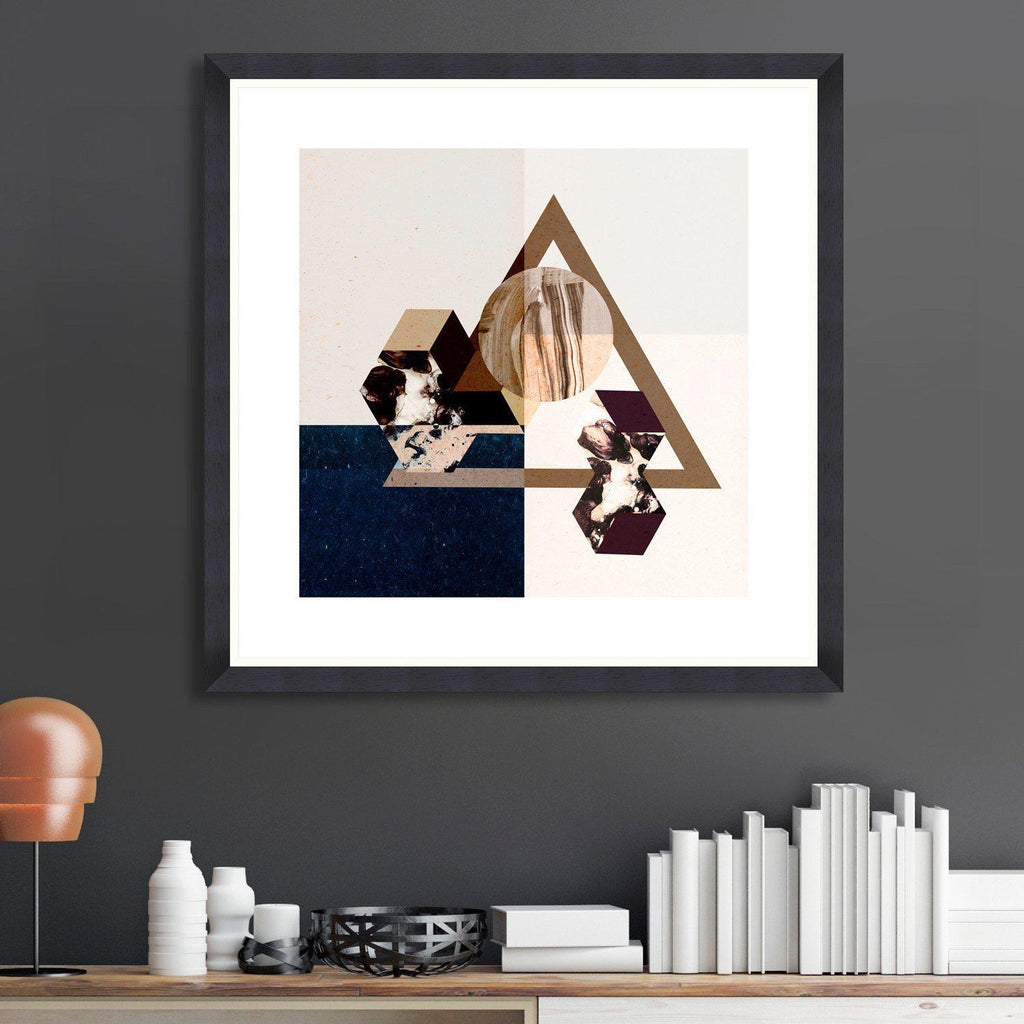 Minimal Geometry Framed Art Print-MINDTHEGAP-Beaumonde