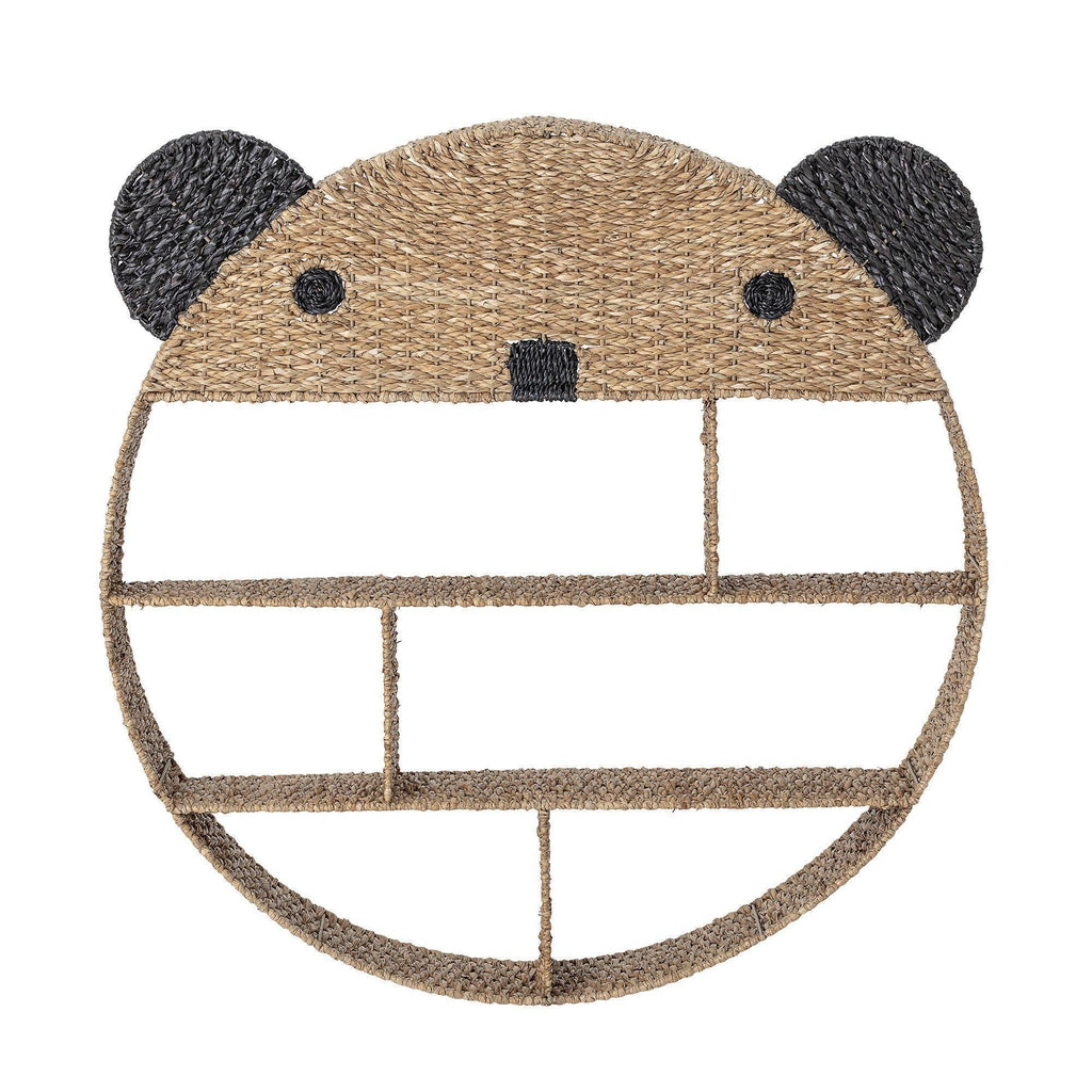Panda Rattan Wall Shelf-Bloomingville Mini-Beaumonde
