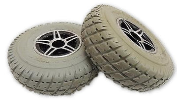 "PR1MO DUROTRAP Power Chair Wheels 3.00-4 (10"" x 3"") Replacement Tires & Rims"
