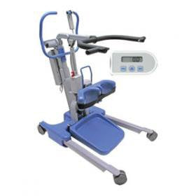 New Hoyer Elevate Stand Assist Patient Lift | 37 - 64.7 Inches |  Power Operated Base, Sling Included, Adjustable Knee Pads, Detachable Foot Plate, Locking Casters