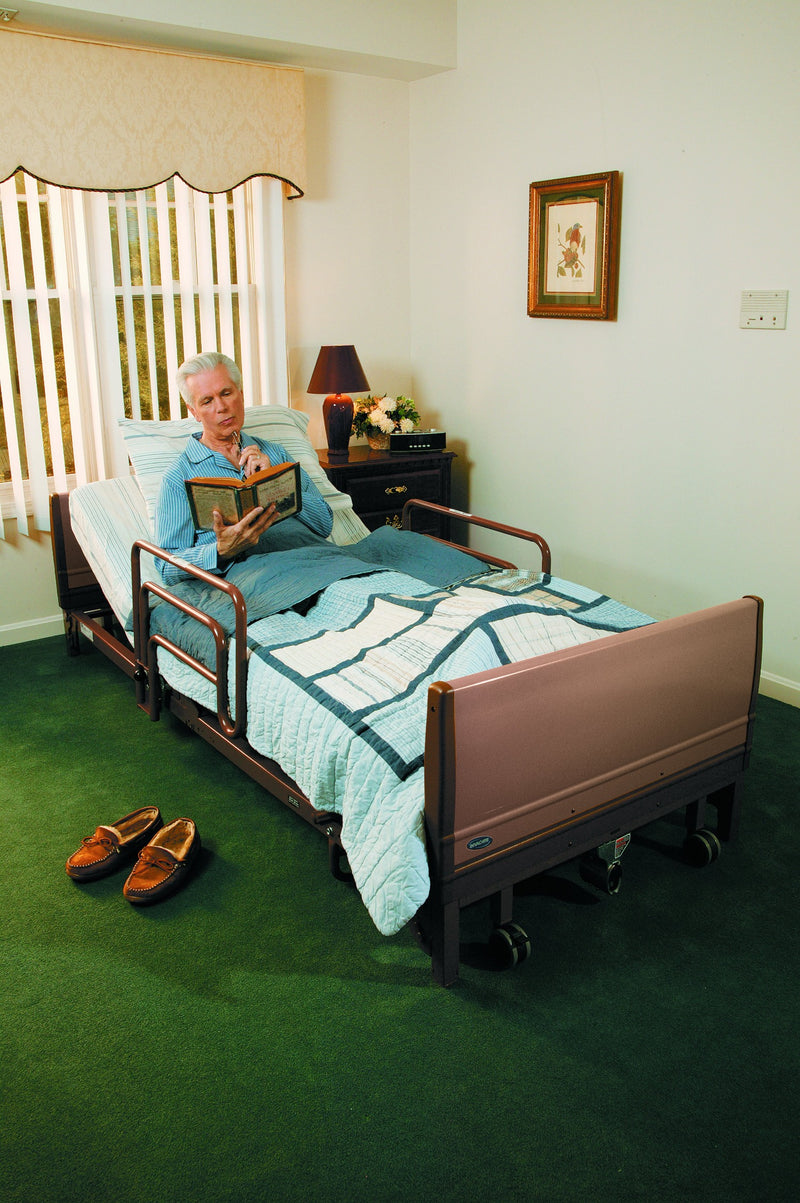 "View of New Invacare Low Homecare 5410LOW Full-Electric Hospital Bed | 80"" x 36"""