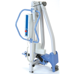 Folded Hoyer Advance Stand Assist Patient Lift | 13.7 - 25.6 Inches | Locking Casters