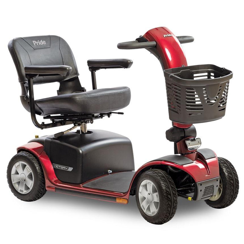 New Pride Victory 10 4-Wheel Mobility Scooter | Max Speed 5.3 MPH | 400 LBS Weight Capacity - Power Chairs Test