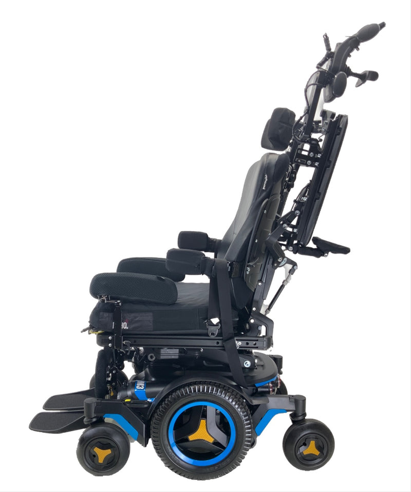 Arms raised on Like New 2020 Permobil M3 Power Chair | 19 x 20 Seat | Tilt, Recline, Power Legs | Only 25 Miles!