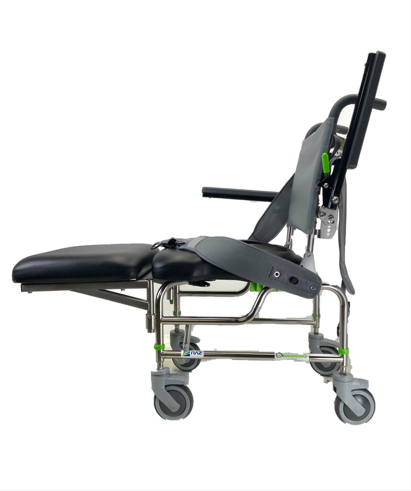 Side of RAZ-AP Shower Commode Chair | Removable Elevated Leg-Platform