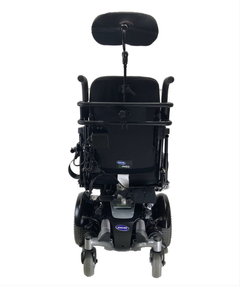 Back of Like New Invacare TDX SP Rehab Power Chair | 17 x 20 Seat | Tilt & Seat Elevate