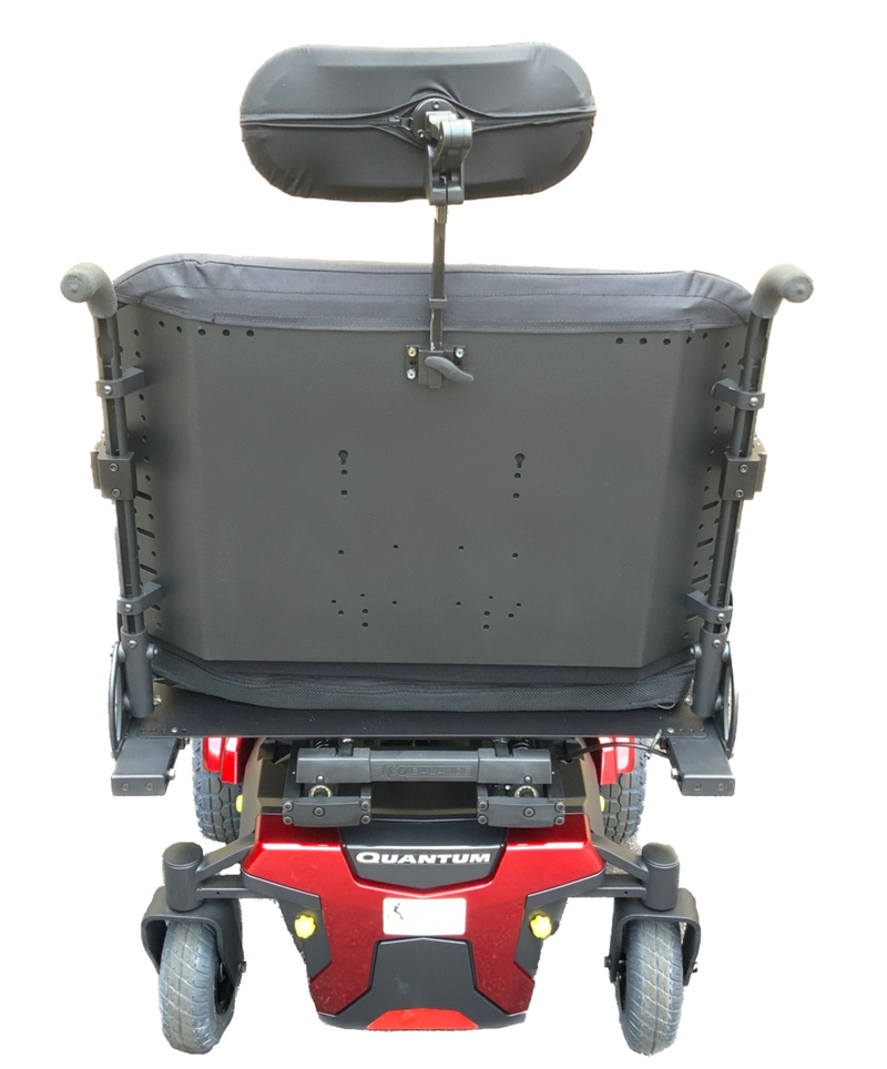 Back of Quantum 1450 Power Chair