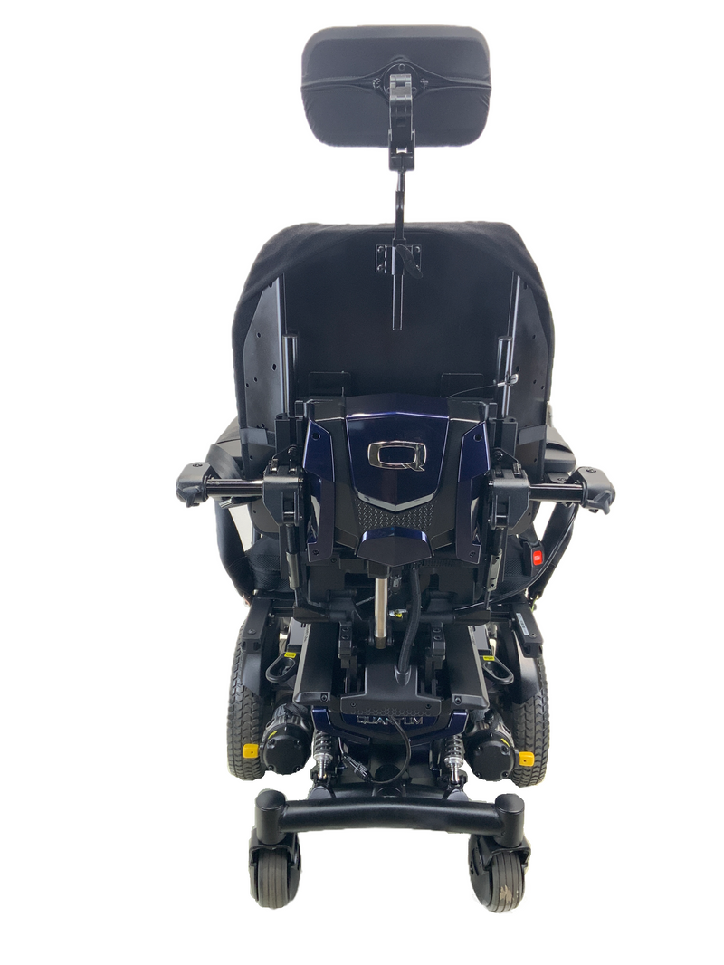 Back of Quantum Q6 Edge HD Power Chair | 19 x 21 Seat | Tilt, Recline, Power Legs | Only 12 Miles