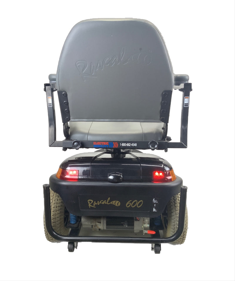 Back lights on Rascal 600T Electric 3-Wheel Scooter  Seat Elevating Capabilities  450 lbs. Weight Capacity  19 x 16 Seat  Lighting Kit