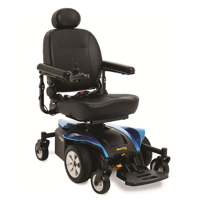 "Blue New Pride Mobility Jazzy Select 6 2.0 Power Chair | 16"" - 20""W x 16"" - 20""D Seat 