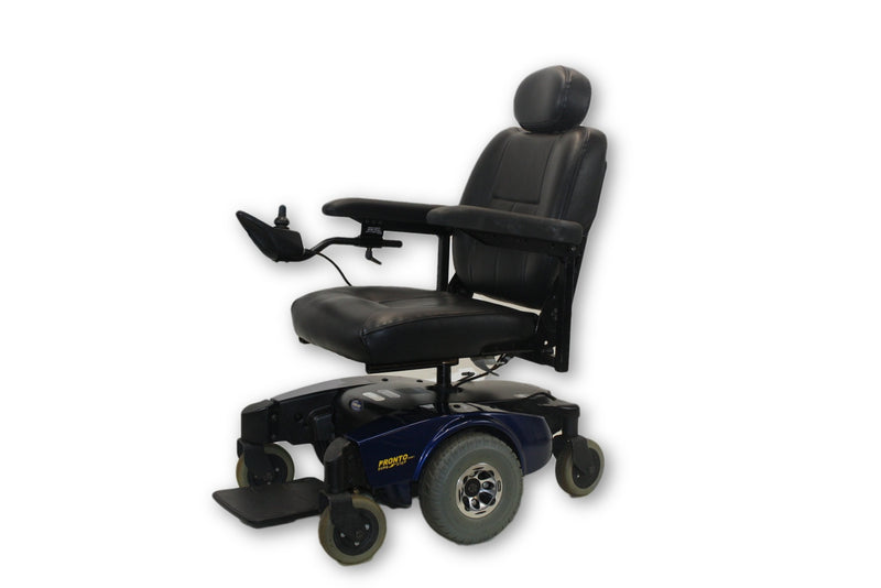 "Invacare Pronto M61 Sure Step Blue Electric Wheelchair 18""x18"" Seat 