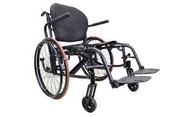 "Sunrise Medical Quickie 2 Manual Wheelchair | Folding Wheelchair | Swing Away Leg Rests | 20"" x 16"" Seat"