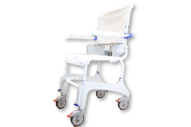 Aquatec Ocean XL Roll-In Bariatric Shower Commode Chair | 400 lbs. Limit - Power Chairs Test