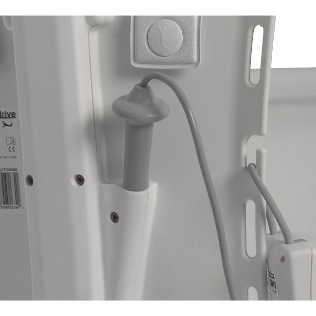 Controller plugged in on Drive Medical Bellavita Bath Lift