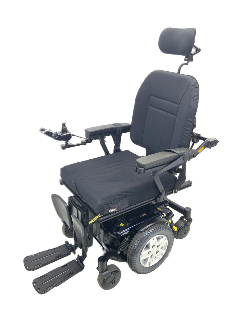 Corner of Quantum Q6 Edge HD Power Chair | 19 x 21 Seat | Tilt, Recline, Power Legs | Only 12 Miles