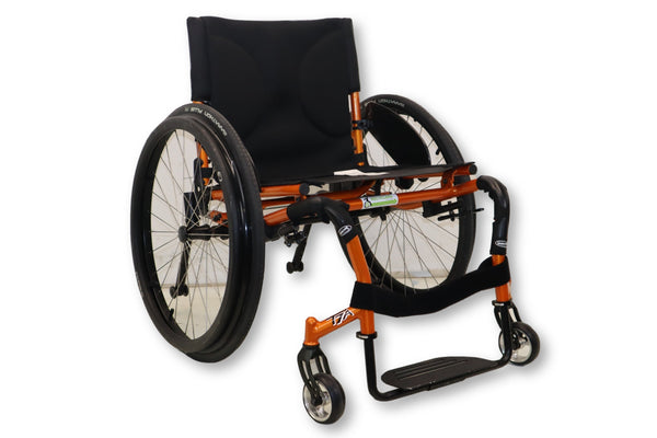 Invacare Crossfire T7A Ultra Lightweight Orange Manual Wheelchair | ATO-CT7A - Power Chairs Test