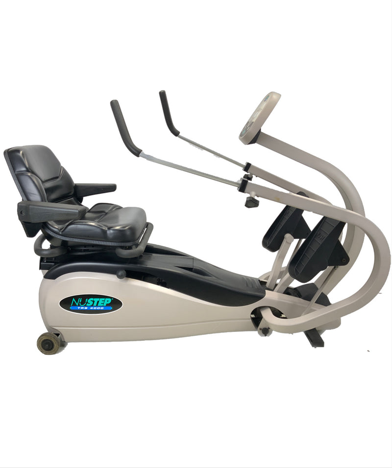 Extended arms of Physical Therapy NuStep TRS 4000 Recumbent Rehabilitation Cross-Trainer