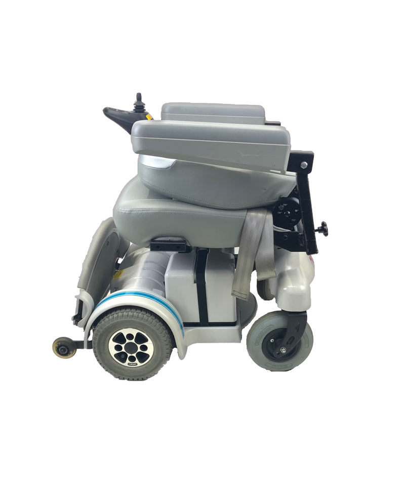 Folded down side view of Hoveround MPV5 Power Chair  21 x 20 Seat  300lbs Weight Capacity