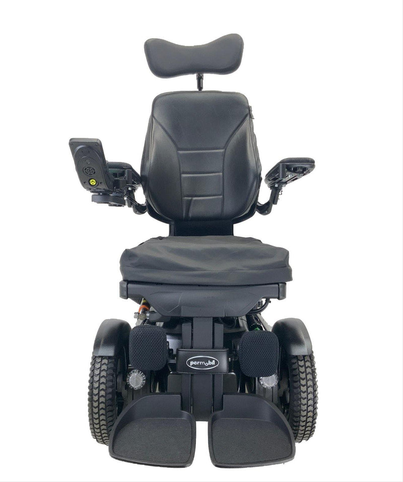 Front of 2018 Permobil F3 Corpus Rehab Power Chair