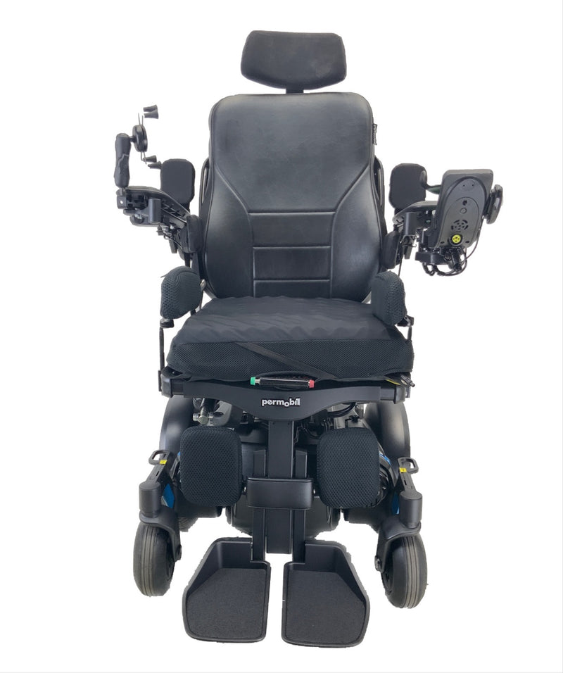 Front of the Like New 2020 Permobil M3 Power Chair | 19 x 20 Seat | Tilt, Recline, Power Legs | Only 25 Miles!