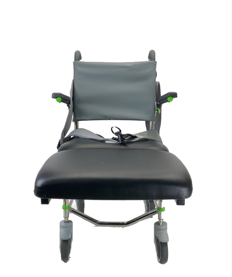 Front of RAZ-AP Shower Commode Chair | Removable Elevated Leg-Platform