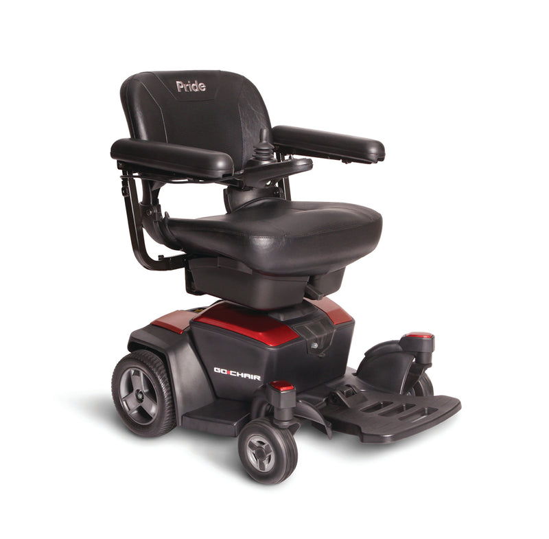 "Red New Pride Mobility Go-Chair Power Chair | 18""W x 17""D Seat"