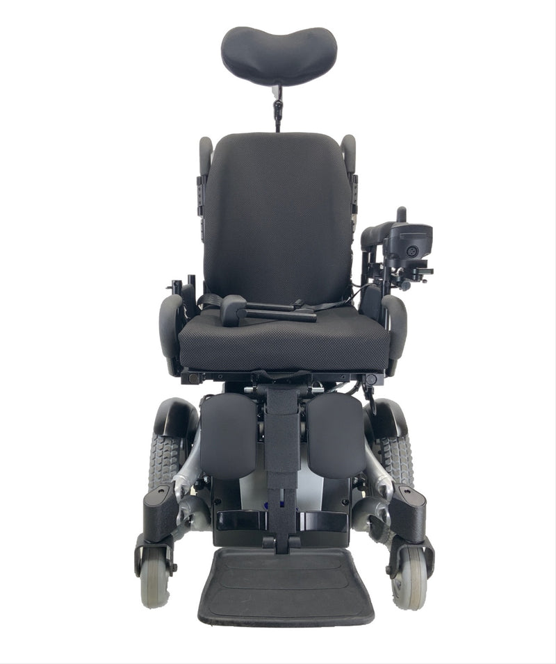 Armrest removed on Like New Invacare TDX SP Rehab Power Chair | 17 x 20 Seat | Tilt & Seat Elevate