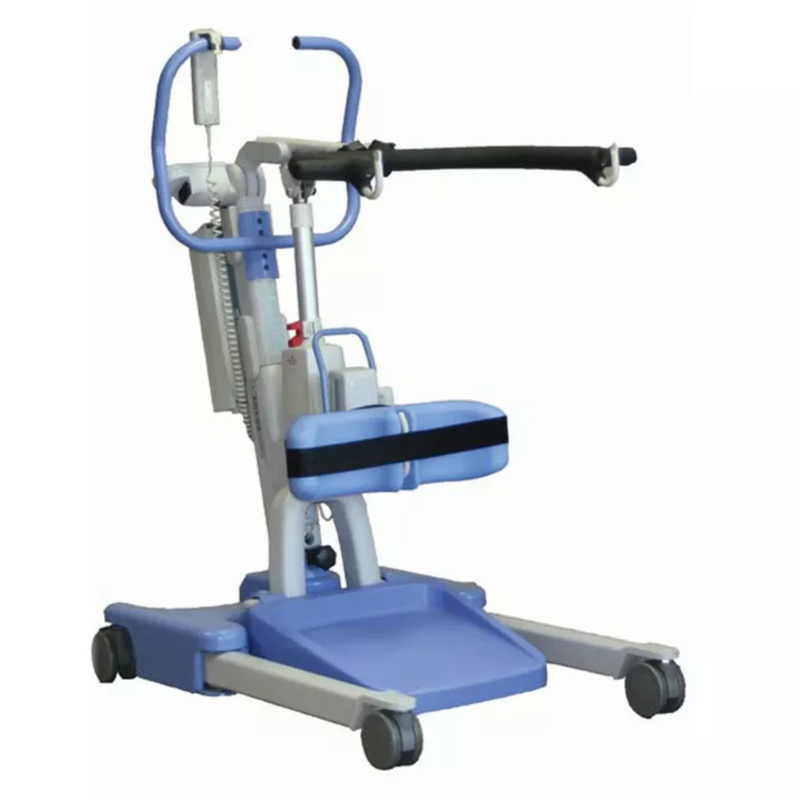 New Hoyer Elevate Stand Assist Stand Assist Patient Lift | 37 - 64.7 Inches | Power Operated Base, Sling Included, Adjustable Knee Pads, Detachable Foot Plate, Locking Casters