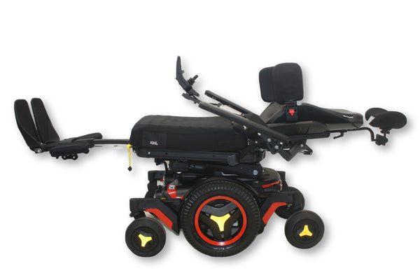 Permobil M3 Red Electric Wheelchair With ROHO, Tilt, Recline & Leg Elevate