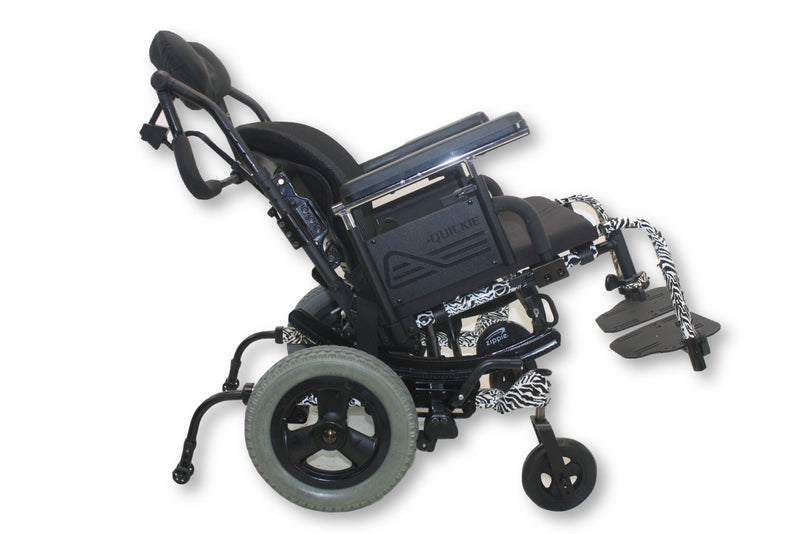 Quickie Zippie TS Tilt-In-Space Manual Wheelchair With Zebra Stripes - Power Chairs Test