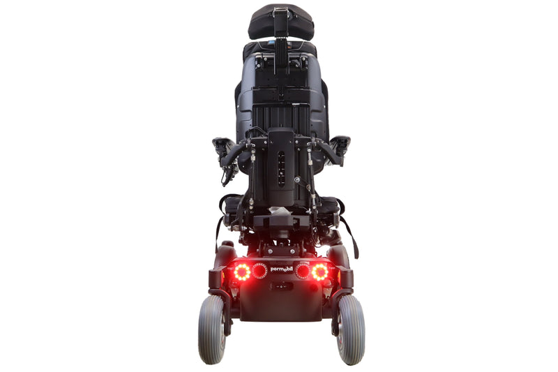 Permobil F3 Power Wheelchair With Seat Elevate, Tilt, Recline, & Power Legs | Head Lights, Tail Lights, & Left/Right Turn Signals - Power Chairs Test