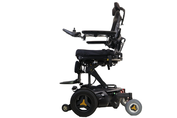 Permobil F3 Power Wheelchair With Seat Elevate, Tilt, Recline, & Power Legs | Head Lights, Tail Lights, & Left/Right Turn Signals