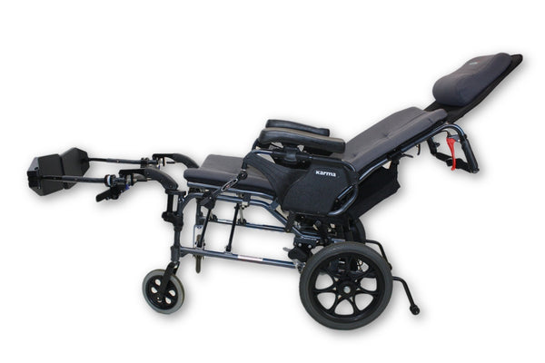 "Karma MVP-502 Ergonomic Reclining Folding Transport Manual Wheelchair | 18""x18"" - Mobility Equipment for Less"