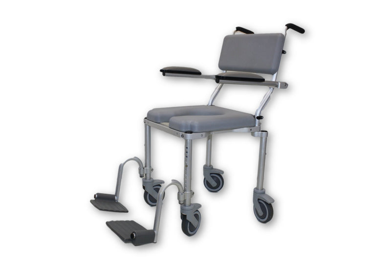 Nuprodx multiCHAIR 4000 Roll-In Shower Chair Commode | ADA Approved - Power Chairs Test