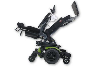 "Quickie QM-710 Power Chair | Tilt, Recline & Power Legs | 20"" x 20"" Seat"