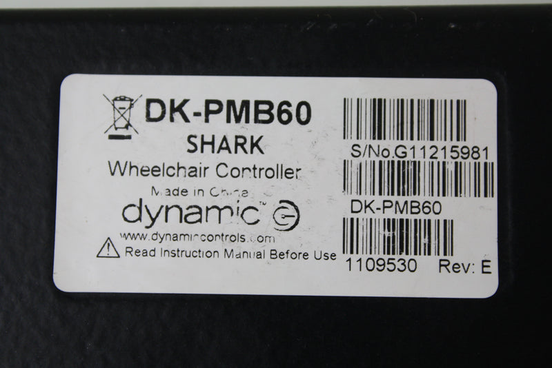 Control Module for Invacare Pronto M50, M51, M61, M71 Electric Wheelchairs | Dynamic Shark | 1109530 | DK-PMB60 | MK5 NX - Power Chairs Test