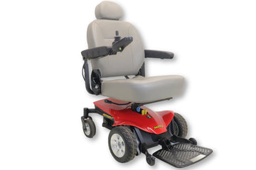 "Jazzy Sport Portable Red Power Chair By Pride Mobility 18"" x 18"" Seat"