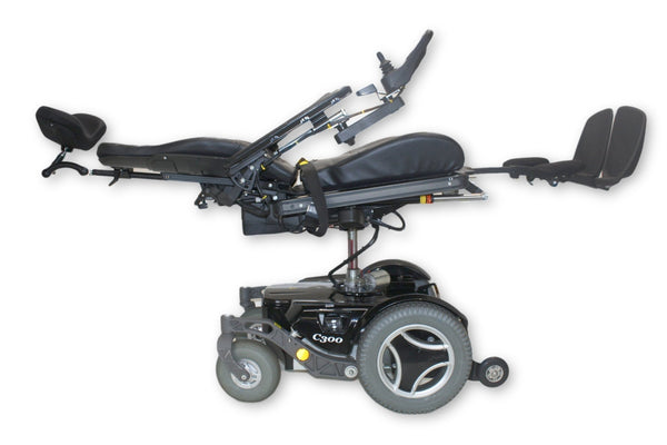 "Permobil C300 FWD Electric Wheelchair | Elevate, Tilt, Recline, Legs | 20""x19"""