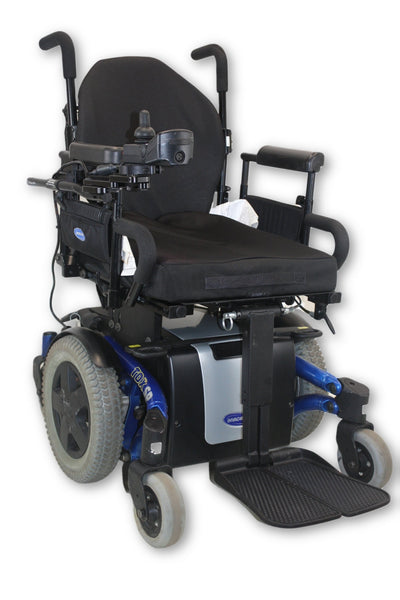 "Blue Invacare TDX SP Electric Power Wheelchair | Manual Leg Elevate | 18""x20"" - Power Chairs Test"