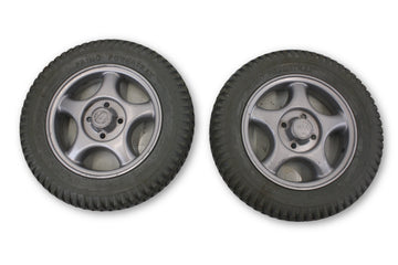 "Invacare Storm Series Wheel | 3.00-8 (14""x3"") Flat Free Foam Tires & Rim"