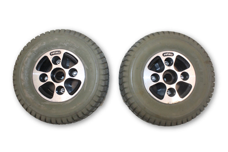 Hoveround MPV4 PRIMO GRANDE (9 x 3.50-4) Flat Free Wheels & Rim Replacement - Power Chairs Test