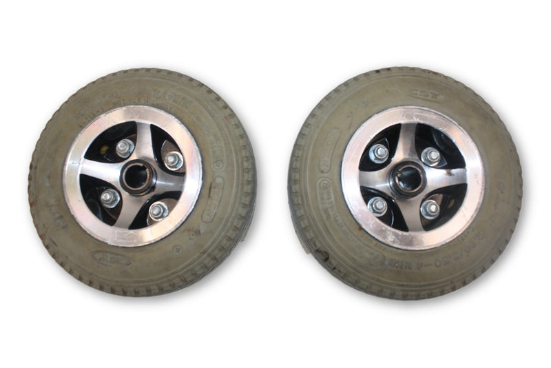 Merits Atlantis Flat Free (2.80/2.50-4) Replacement Wheels | Good Tread - Power Chairs Test